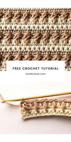 Crochet 101, Crochet For Beginners, Learn To Crochet, Free Crochet, Crochet Blanket Patterns, Crochet Stitches, Free Pattern, Caramel, Cable