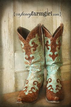 cowgirl boots from 'the fancy farm girl'!