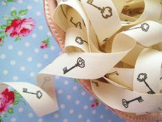French Style Skeleton Keys Ribbon