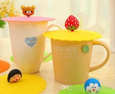 Other Kitchen, Dining & Bar Online Sale Lovelty Cartoon Zodiac Silicone Leak Proof Cup Lid Resistant High Temperature Leak Proof Dust Cup Cover Home Office Table Decoration 244670305   Dhgate.Com