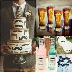 Themed adult birthday party ideas. My friend would love the mustache cake!!!!