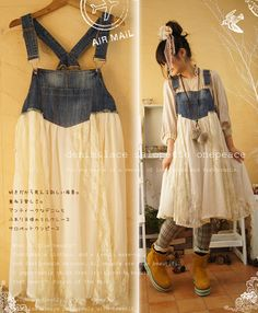 denim overalls made into dress