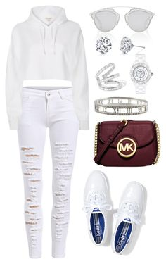 """Untitled #1560"" by cecilia-rebecca-stagrum-buch on Polyvore featuring River Island, Keds, Michael Kors, Christian Dior, Lynn Ban, Tiffany & Co., Chanel and Harry Kotlar"