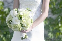 White and Green Bridal Bouquet with Hydrangea - The French Bouquet - Laura Vogt Photography