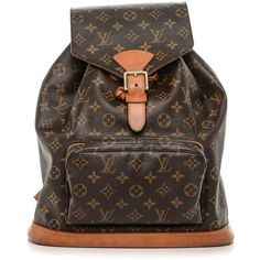 LOUIS VUITTON Vintage Monogram Montsouris GM Backpack ❤ liked on Polyvore featuring bags, backpacks, backpack, day pack backpack, backpack bags, monogram shoulder bag, monogrammed bags and brown backpack