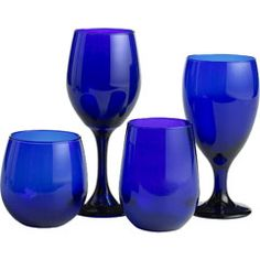 Cobalt Blue Glasses from Pier 1 Imports--love all the cobalt blue in my kitchen