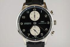 IWC Portuguese Chronograph Automatic Panda Dial Watch IW371404 3714
