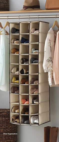 genarel 14 great ways to store your shoes - These roomy shoe shelves are designed to accommodate up Small Space Organization, Craft Organization, Organizing Ideas, Wall Storage, Shoe Storage, Storage Ideas, Shoe Racks, Hanging Storage, Keep Shoes