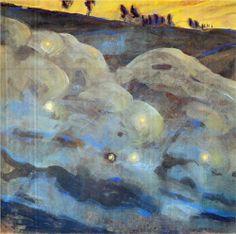 Sparks (I) - Mikalojus Ciurlionis. 1906.