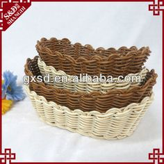 S&D commonly used rattan oval bread basket