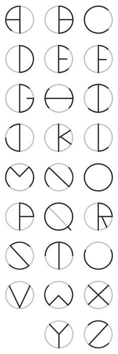 Circle Typeface by Oscar Lopes, via Behance - lettering, alphabet, letters, writing Fonte Alphabet, Alphabet Letters, Alphabet Fonts, Alphabet Design, Design Letters, Caligraphy Alphabet, Doodle Alphabet, Letter Fonts, Letter Logo