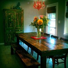 Farmhouse Table - 10ft long on Etsy, $785.00