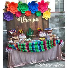 Check out our Mexican themed quinceanera article for more inspiration on decor, dresses, and more! Mexican Centerpiece, Mexican Party Decorations, Quince Decorations, Quinceanera Decorations, Quinceanera Party, Birthday Party Decorations, Mexican Candy Table, Mexican Fiesta Party, Fiesta Theme Party