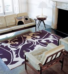 love this purple rug!