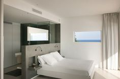 Minimal bed in the #bedroom. More pictures of this house: http://www.worldofarchi.com/2013/05/mediterranean-modern-home-architecture.html