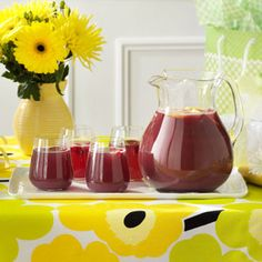 Champagne Fruit Punch Recipe -Toast the happy couple at your next bridal shower with a fun and fruity drink! It's the perfect refreshment on a hot day. Cocktails, Party Drinks, Cocktail Drinks, Fun Drinks, Yummy Drinks, Alcoholic Drinks, Beverages, Cocktail Recipes, Fruity Drinks
