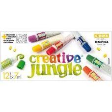 12 színű tempera festék 7 ml műanyag tubusban - Creative Jungle - Tempera készlet - 589Ft - Tempera festék - Tempera készlet