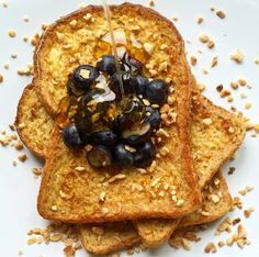 French Toast with Blueberry & Honey