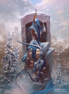 Shateiel, Angel of Silence, Peter Mohrbacher on ArtStation at https://www.artstation.com/artwork/1WzKX
