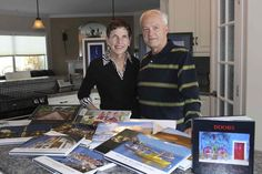 Photo books the Klassens in Winkler have made of their many travels over the years.