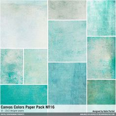 Canvas Colors Paper Pack No. 16 textured cardstocks with a linen texture for a great background and use in scrapbooking pages #designerdigitals