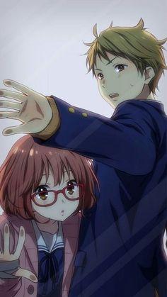 Mirai & Akihito | Kyoukai no Kanata #anime #illustration #Beyond the Boundary