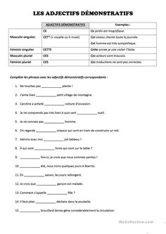 Free French Lessons, Free In French, Free Printable Math Worksheets, French Worksheets, French Tutors, French Education, French Grammar, French Words, Teaching French