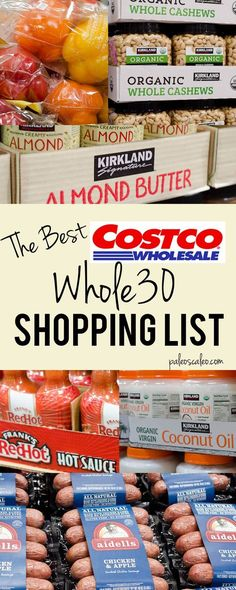 The only Costco Whole30 shopping list you'll ever need! | PaleoScaleo.com