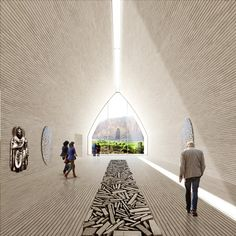 A proposal to carve a cultural centre out of the landscape has won the UNESCO design contest for a Bamiyan Valley site in Afghanistan.