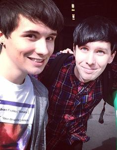 .Dan Howell and Phil Lester / danisnotonfire and AmazingPhil