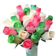 Ramo #esperanza en la web www.rosasdemadera.org Arte Floral, Wooden Flowers, Cheap Gifts, Rose Bouquet, Floral Bouquets, Original Gifts