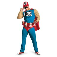 The Simpsons - Duffman Classic Muscle Adult Costume Description: Oh yeah! Become the cool and charismatic Duff Beer mascot in The Simpsons - Duffman Classic Muscle Adult Costume wh Lifeguard Halloween Costume, Black Dress Halloween Costume, Black Angel Costume, Biker Halloween, Old Halloween Costumes, Adult Costumes, Costumes For Women, Funny Costumes, Funny Halloween