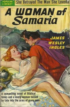 """The cover artwork by Rudolph Belarski for """"A Woman of Samaria"""""""