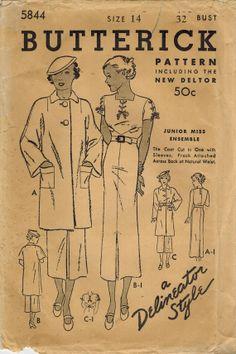 1930s Butterick 5844