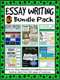 Are your students new to writing essays? Are they struggling to grasp the format? This bundle of information, classroom trivia games and individual and/or group activities are sure to help your students get on the right track to writing essays! #Essay #Writing #Essay