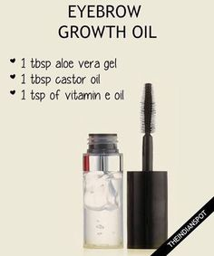 Try this homemade serum to grow out thin or over-plucked eyebrows - #serum #eyebrows #eyebrowgel #gel #aloevera #castoroil #vitamine #brows #homemade #theindianspot