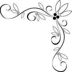 Fancy vine corner border design image