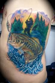 Image result for gone fishing tattoo
