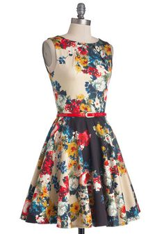 Luck Be a Lady Dress in Garden | Mod Retro Vintage Dresses | ModCloth.com