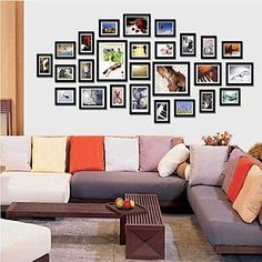 [XmasSale]Black Photo Wall Frame Collection Set of 26 – USD $ 99.99