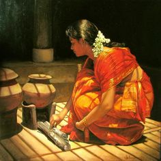 Evoking Nostalgia with a Painting  by S.Elayaraja