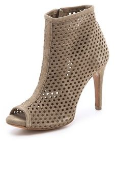 Pedro garcia Sylvana Perforated Suede Booties on shopstyle.com