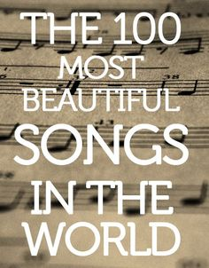 Click to listen to a Spotify playlist of truly beautiful music. Hmmm, I'll have to check it out ...