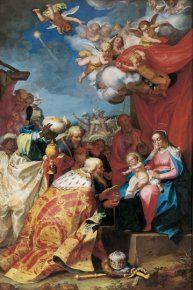 Adoration des rois mages, Abraham Bloemart (1564-1651), c. 1623-24, Grenoble, musée  La tradition humaniste remontatn à Erasme de Rotterdam a permis une grande tolérance. Abraham Bloemarert est un exemple de peintre catholique vivant à Utrecht, il a tantôt réalisé des tableaux pour les Protestants, tantôt pour des Catholiques.