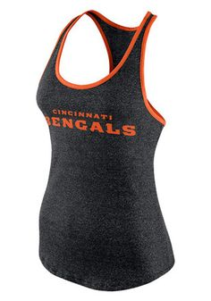 Nike Cincinnati Bengals Womens Black Core Fan Marled Tank Top