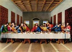 Leonardo da Vinci original picture of the last supper painting is shipped worldwide,including stretched canvas and framed art.This Leonardo da Vinci original picture of the last supper painting is available at custom size. Last Supper Photo, Last Supper Art, The Last Supper Painting, Christian Paintings, Christian Artwork, Christian Pictures, Foto Pal Face, Lords Supper, Jesus Christ Images