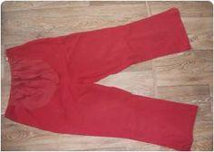 těhotenské 3/4 kalhoty v červené barvě. Vel. M. z bazaru