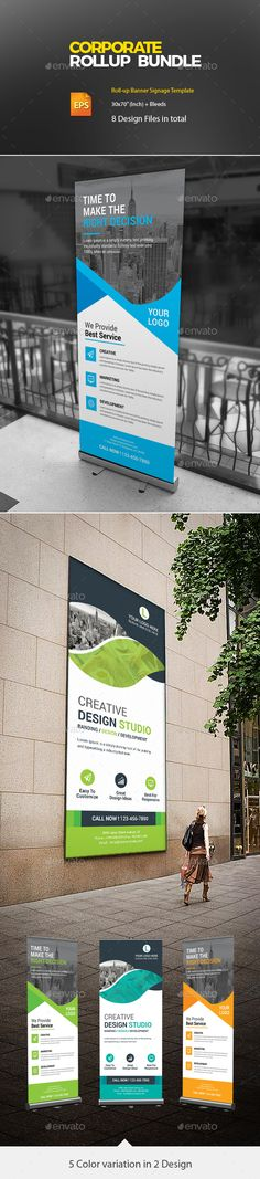 Corporate #Roll-Up Bundle - #Signage Print Templates Download here: https://graphicriver.net/item/corporate-rollup-bundle/20360667?ref=alena994