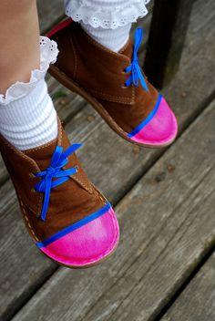 neon diy shoes