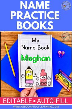 Surprise your students with their very own personalized name writing practice book FULL of different activities with their name! These name writing practice books are editable! Type your class roster and a personalized name writing practice book will be made for each student INSTANTLY! There are 6 different name activities included in each book as well as an interactive name craft for students to practice building their name. The craft allows students to continue practicing building their names!
